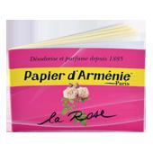 Papier d'Arménie à la Rose : Papier d'Arménie Triple d'Auguste Ponsot ~ Carnet de 12 Feuilles