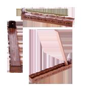 Porte-Encens Bois avec Réservoir et Couvercle ~ Dim. : 30,50 x 4,50 x 6,50 cm