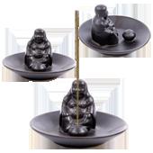 """Porte-Encens """" Bouddha Rieur """" en Céramique ~ Dimensions : 11,50 x 7,00 cm"""