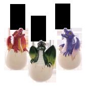 """Porte-Encens """" Oeuf de Dragon """" en Résine ~ Hauteur : 14,50 cm"""