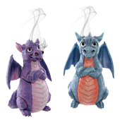"""Porte-Encens """" Dragon """" en Résine ~ Hauteur : 14,00 cm"""