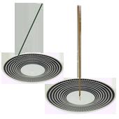 Porte-Encens en Porcelaine ~ Diamètre : 12,00 cm - Hauteur : 1,50 cm