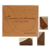 Santal : Encens Indien d' Auroville ( Maroma ) ~ Boîte de 10 Cônes