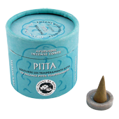 "Pitta : Encens Indien Ayurvédique "" Pitta "" Les Encens du Monde ~ Boîte de 15 Cônes + 1 Porte-Encens"