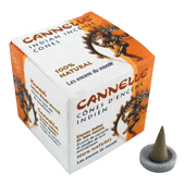 Cannelle : Encens Indien Les Encens du Monde ~ Boîte de 15 Cônes + 1 Porte-Encens