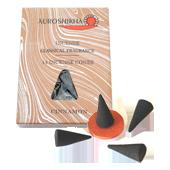 Cannelle : Encens Indien Auroshikha ~ Boîte de 14 Cônes + 1 Porte-Encens