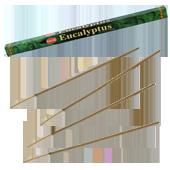 Eucalyptus : Encens à l'Eucalyptus HEM ~ Étui de 8 Bâtonnets