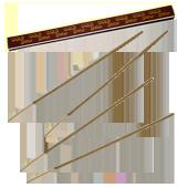 Gold Statue : Encens Indien Padmini ~ Boîte de 8 Bâtonnets