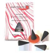 Lotus Blanc : Encens Indien Auroshikha ~ Boîte de 14 Cônes + 1 Porte-Encens