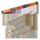 Musc Africain : Encens au Musc Africain HEM ~ Étui de 8 Bâtonnets