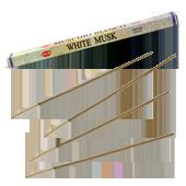 Musc Blanc : Encens au Musc Blanc HEM ~ Étui de 8 Bâtonnets