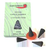 Pin : Encens Indien Auroshikha ~ Boîte de 14 Cônes + 1 Porte-Encens
