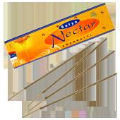 Nectar : Encens Indien Satya ~ Boîte de 50 Grammes (15 Bâtonnets)
