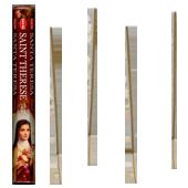Sainte Thérèse : Encens Religieux ~ Boîte Hexagonale de 20 Bâtonnets