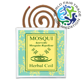 Spirales Anti Moustique Naturelles ~ Boîte de 8 Spirales + 1 Porte-Spirale