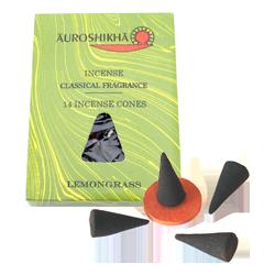 Anti Moustique Naturel Lemongrass : Boîte de 14 Cônes + 1 Porte-Encens