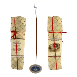 Santal : Encens d' Aromathérapie ( Mantra ) ~ Étui de 50 Bâtonnets + 1 Porte-Encens