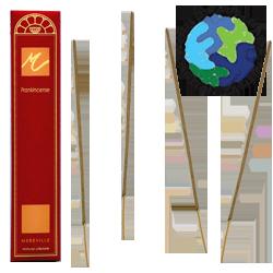"""Encens d' Auroville """" Frankincense """" (= Naturel) ~ Étui de 10 Bâtonnets"""