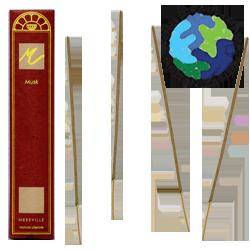 Encens d' Auroville au Musc ~ Étui de 10 Bâtonnets