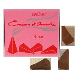 Rose : Encens Indien d' Auroville ( Maroma ) ~ Boîte de 10 Cônes