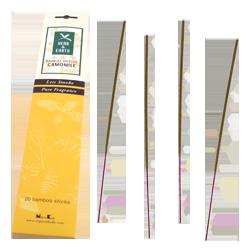 Camomille : Encens Japonais Nippon Kodo ~ Étui de 20 Bâtonnets