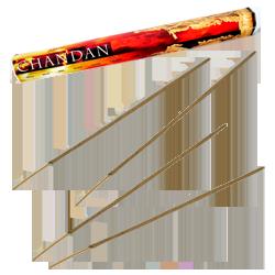 Chandan : Encens Indien Padmini ~ Boîte Hexagonale de 20 Bâtonnets