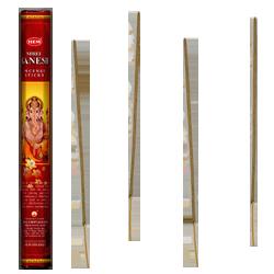 Shree Ganesh : Encens Religieux ~ Boîte Hexagonale de 20 Bâtonnets