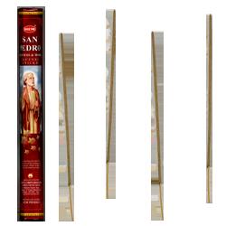 Saint Pierre : Encens Religieux ~ Boîte Hexagonale de 20 Bâtonnets