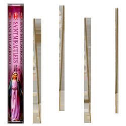 Sainte Miraculeuse : Encens Religieux ~ Boîte Hexagonale de 20 Bâtonnets