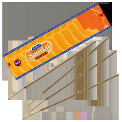 Santal : Encens Indien Satya ~ Boîte de 30 Grammes (24 Bâtonnets)