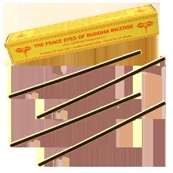 The Peace Eyes of Buddha Incense : Encens Tibétain ~ Étui de 30 Bâtonnets + 1 Porte-Encens