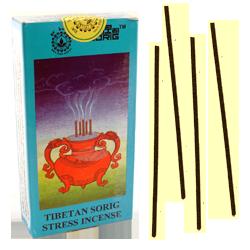 Tibetan Sorig Stress Incense : Encens Tibétain ~ Étui de 24 Bâtonnets