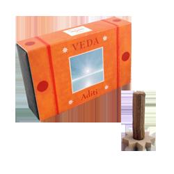 Aditi : Encens Indien Veda ( Maroma ) ~ Boîte de 10 Cônes + 1 Porte-Encens
