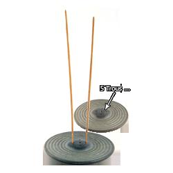 """Porte-Encens Pierre Naturelle """" Izumo """" Gris ~ Diamètre : 11,00 cm - Hauteur : 1,00 cm"""