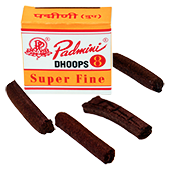 "Dhoop Sticks "" Super Fine "" Padmini ~ Boîte de 08 Sticks"