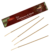Oliban + Myrrhe : Encens Indien Aromatika ~ Étui de 15 Grammes