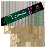 Patchouli : Encens Indien Aromatika ~ Étui de 15 Grammes