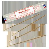 "White Sage ("" Sauge Blanche "") : Encens Indien Satya ~ Boîte de 15 Grammes (13 Bâtonnets)"