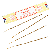 Vanille : Encens Indien Satya ~ Boîte de 15 Grammes (13 Bâtonnets)