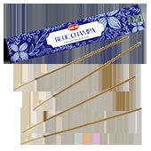 Champa Bleu : Encens Indien HEM ~ Boîte Hexagonale de 20 Bâtonnets