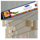 Infinity : Encens Indien Satya ~ Boîte de 20 Grammes (18 Bâtonnets)