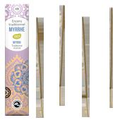 Myrrhe : Encens Indien Les Encens du Monde ~ Étui de 20 Bâtonnets