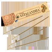 Organica Astagandha : Encens Indien Goloka ~ Boîte de 15 Grammes (14 Bâtonnets)