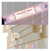 """Positive Vibes ("""" Ondes Positives """") : Encens Indien Satya ~ Boîte de 15 Grammes (13 Bâtonnets)"""