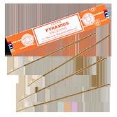 "Pyramids ("" Pyramides "") : Encens Indien Satya ~ Boîte de 15 Grammes (13 Bâtonnets)"