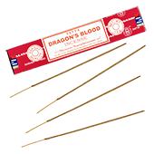 """Dragon's Blood ("""" Sang des Dragons """") : Encens Indien Satya ~ Boîte de 15 Grammes (13 Bâtonnets)"""
