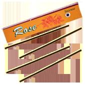 Rose : Encens Tibétain 100% Naturel ~ Étui de ±10 Mini Bâtonnets