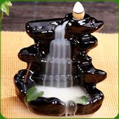 """Fontaine à encens """" Cascade """" en céramique"""