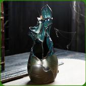 """Fontaine à encens """" Lotus """" en céramique"""