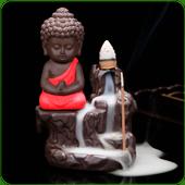 "Porte-Encens Backflow "" Bouddha Rouge """